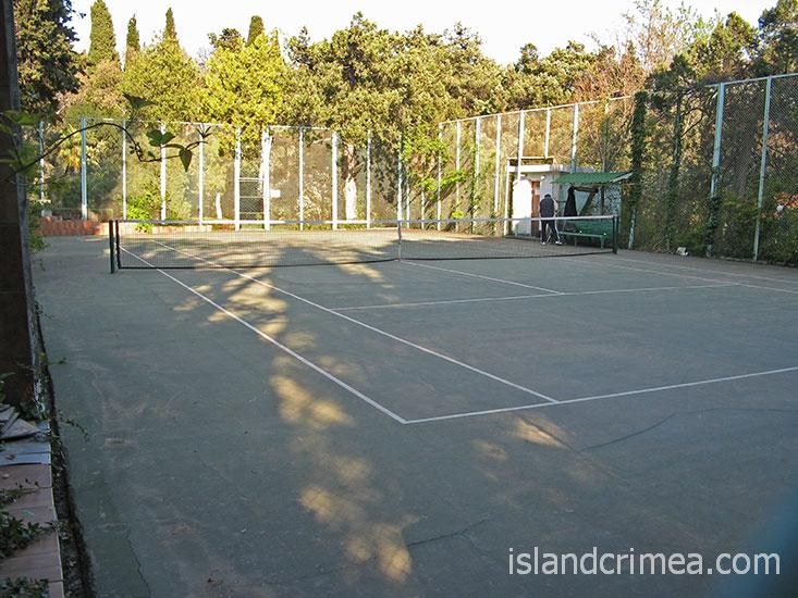 """Санаторий """"Днепр"""", теннисный корт."""