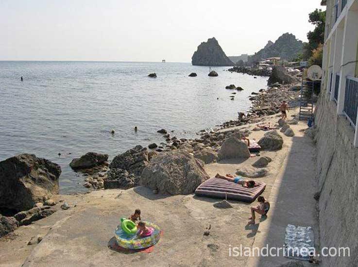 """Гостиница """"Ассоль"""", пляж в п. Симеиз"""