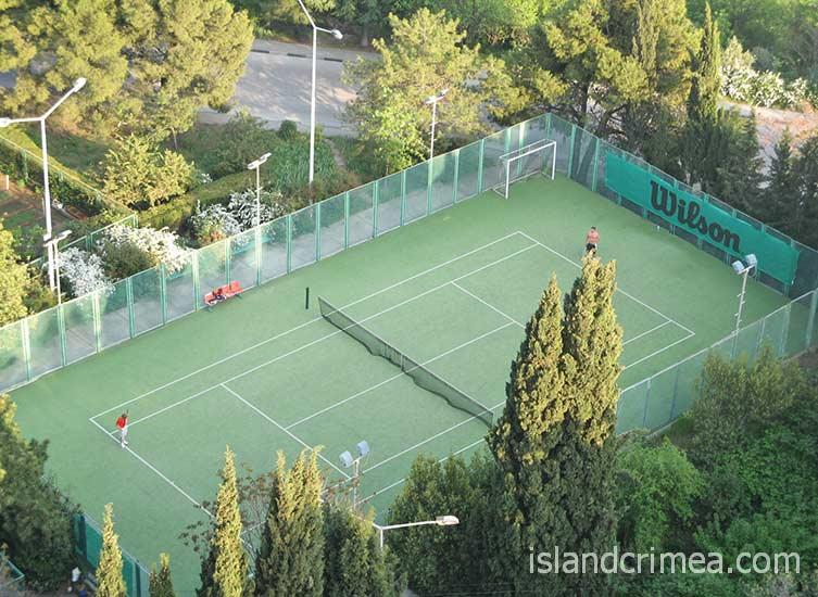 "Гостиница ""Ялта-Интурист"", теннисный корт."