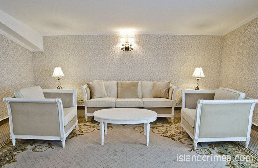 """Курорт-отель """"Пальмира-Палас"""", люкс Париж, гостиная"""