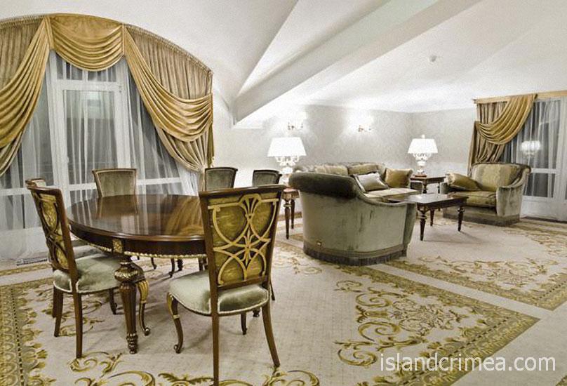 """Курорт-отель """"Пальмира-Палас"""", апартаменты Брюссель, гостиная"""