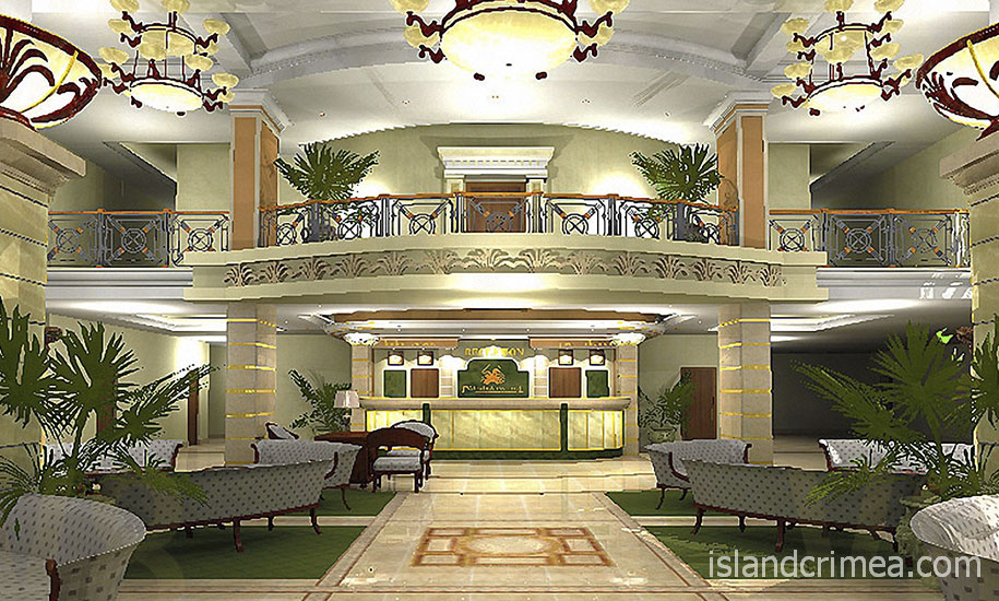 """Курорт-отель """"Пальмира-Палас"""", холл основного корпуса"""