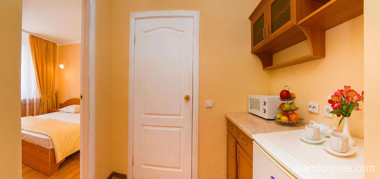 """Пансионат """"Нева"""", мини-кухня в 2-комнатном полулюксе"""