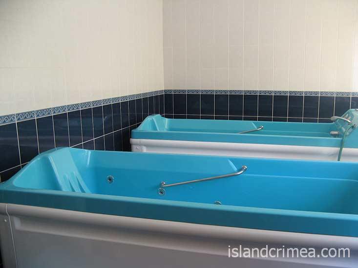 """Отель """"Норд"""", лечебное отделение, ванны."""