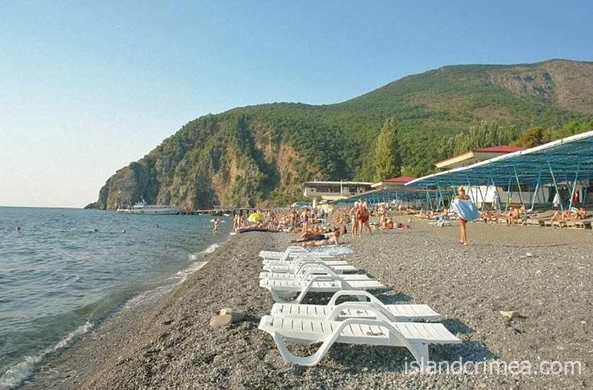 """Отель """"Норд"""", пляж."""