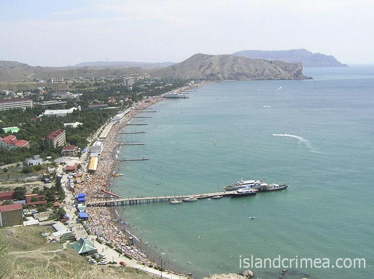 "Курортный отель ""Бастион"", вид на побережье Судака"