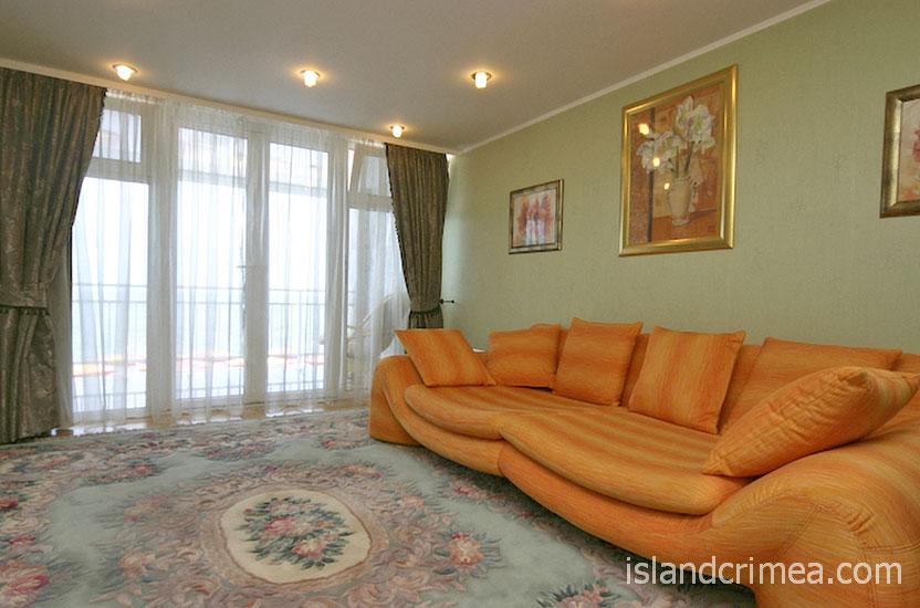 """Дайвинг-отель """"Белый грифон"""", апартаменты, гостиная"""
