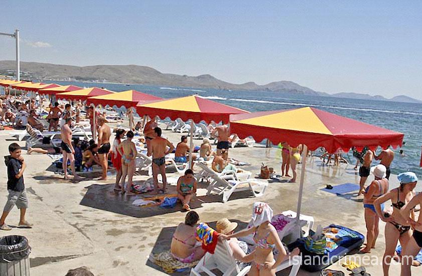 """Дайвинг-отель """"Белый грифон"""", пляж"""