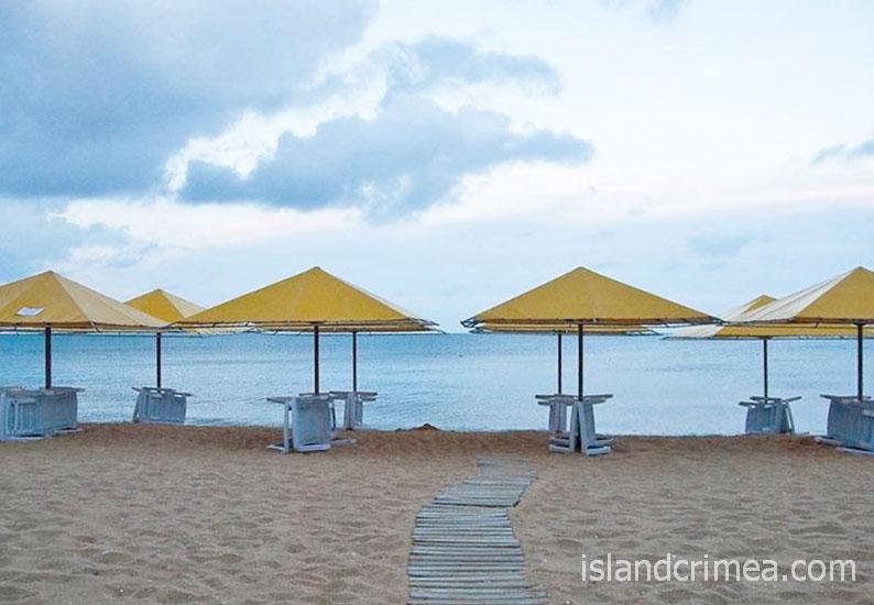 "Пансионат ""Бригантина"", пляж"