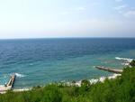 """Пансионат """"Форосский Берег"""", Вид на море и пляж с территории пансионата"""