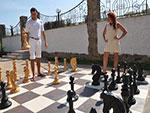 """Пансионат """"Лига-клуб"""", большие шахматы"""