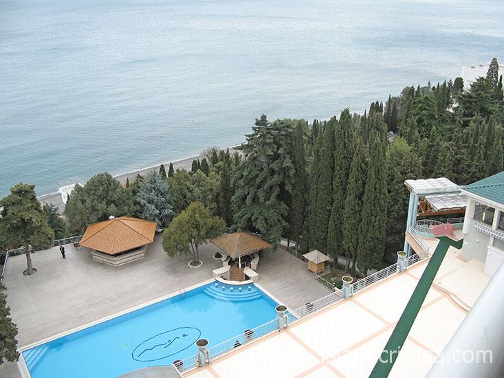 "Пансионат ""Море"", вид с балкона в номере дуплекс."
