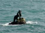 """Пансионат """"Отдых"""", статуя русалки в море в п.Мисхор"""