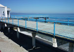 Оборудованный пляж отеля Юстас-Крым.