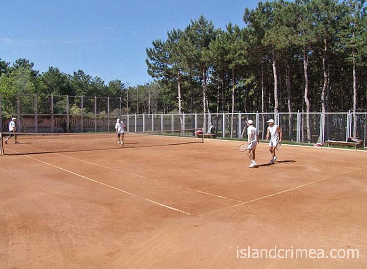 """Пансионат """"Волна-люкс"""", теннисный корт"""