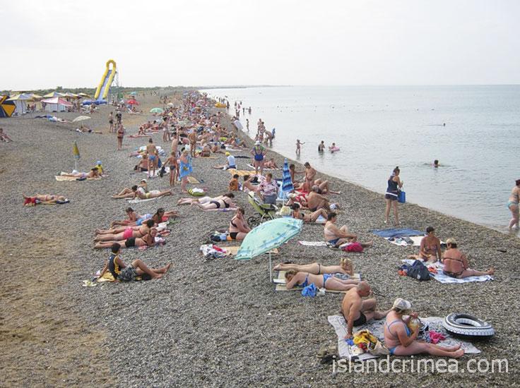 Санаторий имени Пирогова, пляж