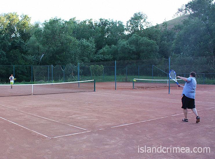 """Санаторий """"Черноморец"""", теннис"""