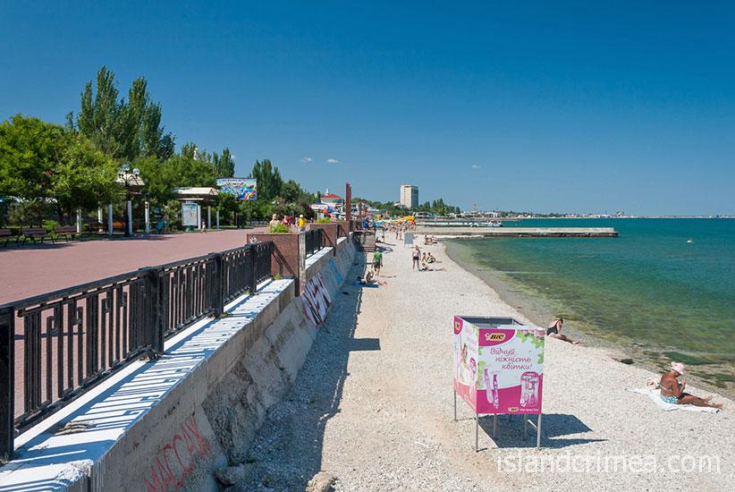 """Санаторий """"Восход"""", пляж."""