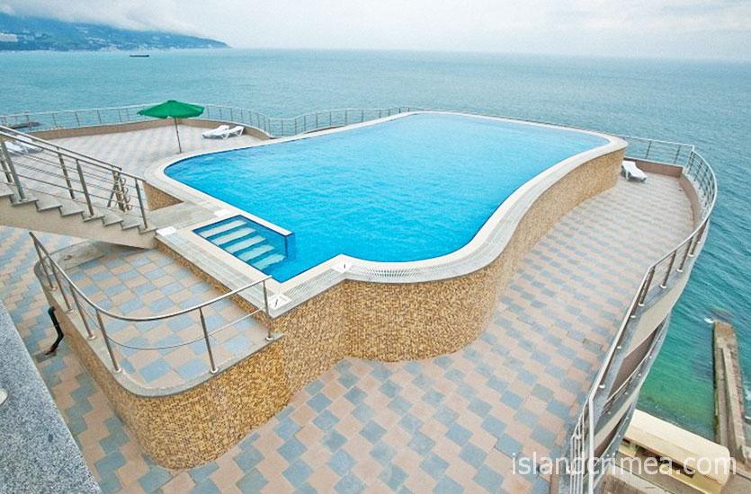 "Открытый бассейн на крыше SPA-отеля ""Ливадийский""."