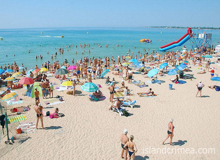 """Туристско-оздоровительный комплекс """"Евпатория"""", пляж"""