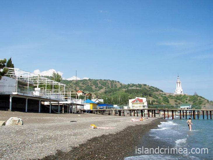 """Вилла """"Арго"""", общий пляж."""