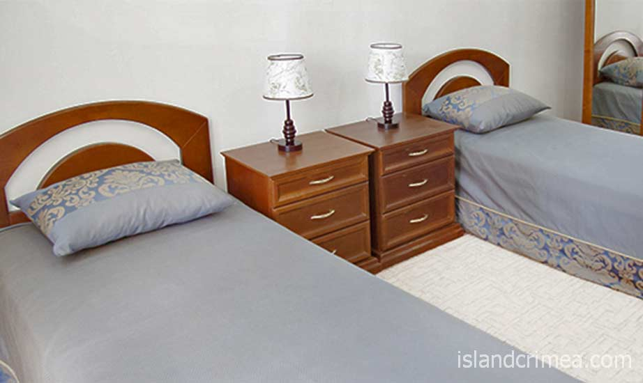"""Вилла """"Голубой залив"""", раздельные кровати"""