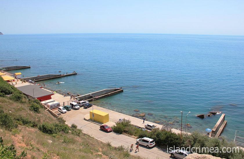 """Санаторий """"Южнобережный"""", пляж."""